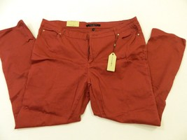 M119 NWT MAX JEANS Red Salisbury Skinny Slim Pants WOMEN'S 22W  - $17.56