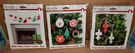 Christmas Craft Kits 3ea  Ornaments & Stockings Cozy Lodge Recollections... - $12.49