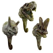 PANDA SUPERSTORE 3pcs Decorative Dinosaur Fossils Hooks Resin Simulation Dinosau