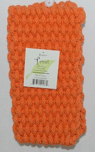 Shaggies Trivet 113333 Color Orange Handmade 100 Percent Cotton