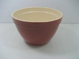 BIA Cordon Bleu Ceramic Porcelain Brown Red Bowl Off White Interior - $17.77