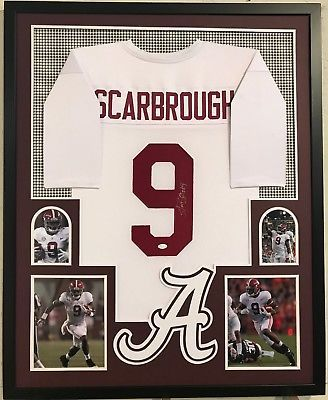 Bo Scarbrough Autographed Custom Framed Alabama Crimson Tide Jersey JSA COA