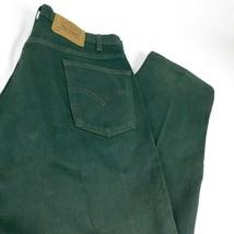 """Vtg Levis 565 Green Denim Jeans Loose Fit Wide Leg W 36 L 30 (Act L 32"""") - $59.99"""