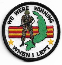 USMC We Were Winning When I Left Military Patch - $1,000.00