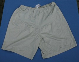 Maternity Womens Sz XL Shorts NWT Flax Twill Pregnancy Summer Front Panel - $17.46