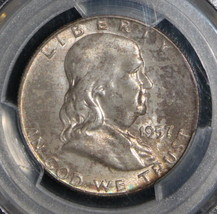 1957 D MS 66 Full Bell Line PCGS Franklin Half Dollar - $188.12