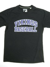 Vikings Baseball Black Purple Adidas T-Shirt Size L - $17.87