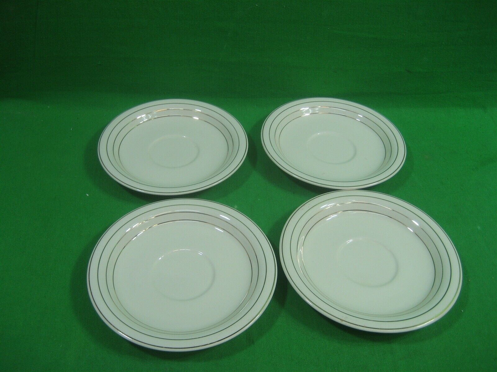 "Set of Four (4) Homer Laughlin Swing Eggshell China 5.75"" Saucer Made in USA"