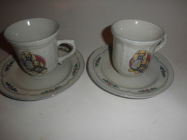 2 Vintage Tabletops Unlimited  rabbits/bunny Coffee Cups saucers lot - $16.78
