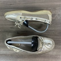 Sperry Top Sider Womens Shoes Size 8M Boat Slip On Shoes Beige Leather 9... - $15.99