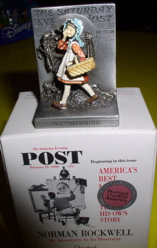 American Norman Rockwell No Swimming  Figurine