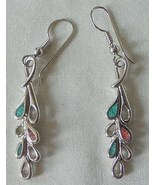 2 Pairs of Vintage Silver & Turquoise Earrings - $14.95