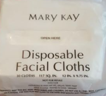 Primary image for Mary Kay Disposable Facial Cloths 25 Cloths 117 Sq in New in Bag
