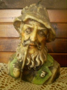 Vintage Collector's Candle, Old Man/Pipe, Handcrafted in Old Town, Chicago