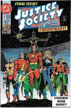 Justice Society of America Comic Book Mini-Series #8 DC 1991 FINE+ UNREAD - $1.75