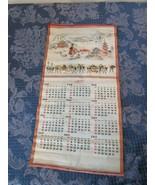 "Vintage Tapestry Asian 1971 Calendar 22"" x 11.5"" - $18.92"
