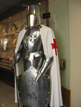 Rare Medieval Knight Crusader Full Suit Of Armour-Custom size Halloween ... - $799.00