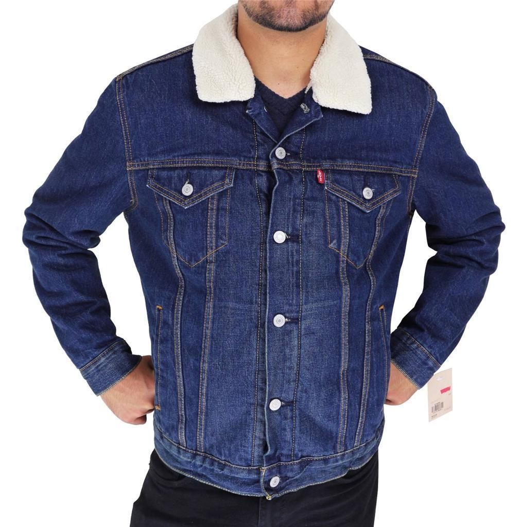 Levi's Men's Premium Button Up Denim Fleece Lined Jeans Jacket 72336001 size L