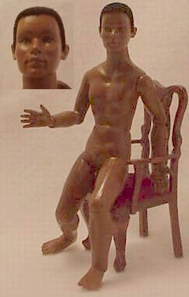DOLLHOUSE Black Ethnic Man Naked Heidi Ott Nude wigged jointed African American