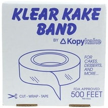 Cake band, Clear 2.5 inch - 1 box - 41.6 foot Roll - $40.46