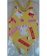 Boutique CHICCO Italy SWIMSUIT Girl 74 9M 12M 12 9 months Toddler One Pi... - $9.89