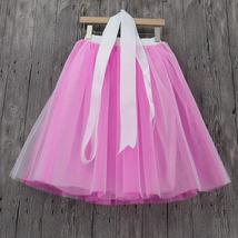 Lavender Ballerina Tulle Skirt Women Girl Knee Length Party Tutu Skirt image 10