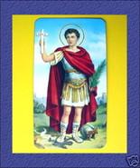 SAN EXPEDITO Saint St. Expeditus Italy HOLY CARD Prayer Republic of Molo... - $9.89