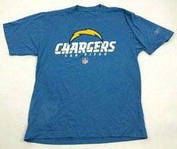 Reebok Los Angeles Chargers Shirt Men's Size Small S Baby Blue Short Sleeve Tee - $17.83