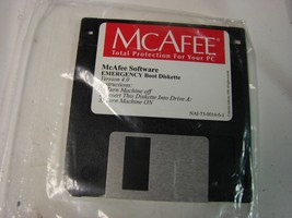 Mcafee emergency boot diskette 1.44 floppy version 4.0 sealed - $5.94