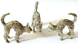 CAT WITH ARCHED BACK FINE PEWTER FIGURINE - Approx. 1 inch tall (T178) image 3