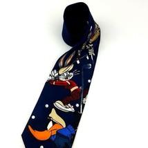 Looney Tunes Mania Polyester Neck Tie Bugs Bunny Taz Daffy Golf 1996 Vintage  - $13.86