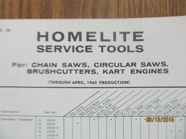 *Vintage* *OEM* Homelite Service Tools Chart part # 23903 (1965)  - $19.99