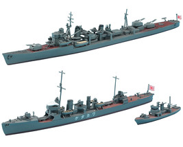 2 Ship Assembly Models of Japanese Navy Destroyers - Arashio and Wakatake - $29.69