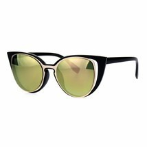 Cateye Fashion Sunglasses Unique Open Double Frame Womens UV 400 - £8.32 GBP
