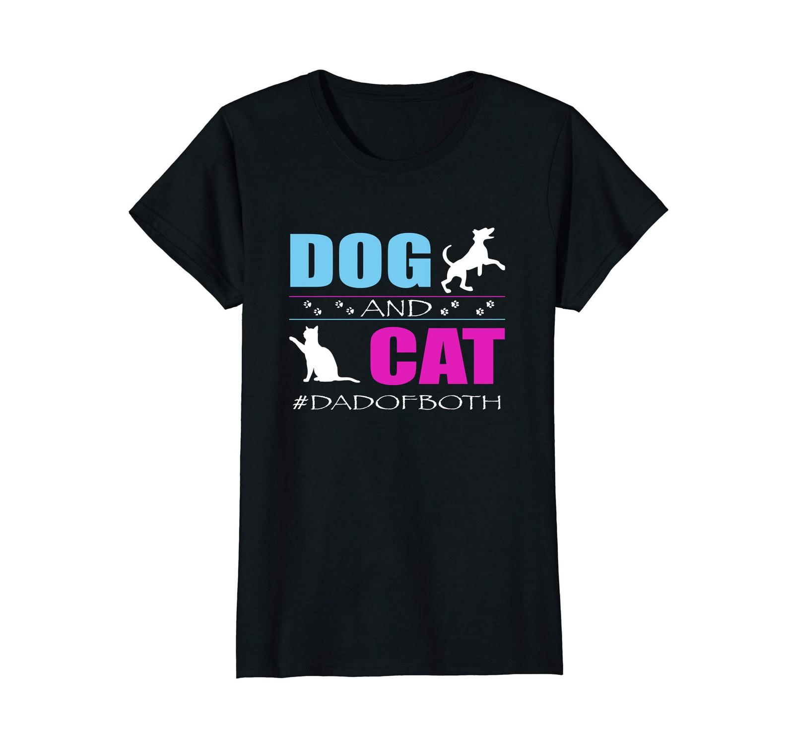 Primary image for Dog Fashion - Dog And Cat I Am A Dad Of Both Funny DadOfBoth TShirt Wowen