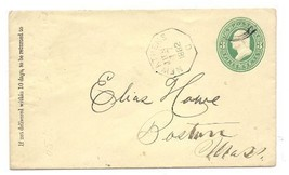 1882 New Athens OH Vintage Postal Cover  - $9.95