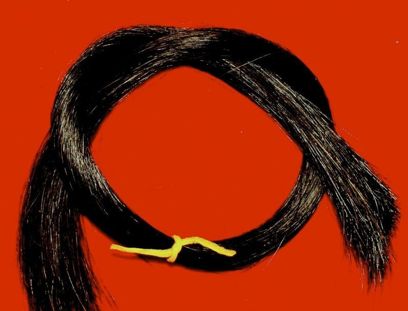 "1 Oz.  24"" Black Horse Hair, Real Horsehair"