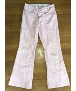 * target cherokee woven pink flare pants jeans bottoms sz 10 girl - $5.94