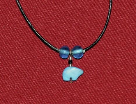 "20"" Turquoise Stone Bear Necklace, Turquoise Necklaces"