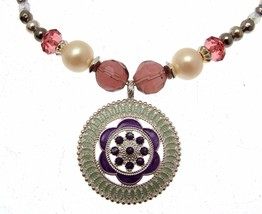 Necklaces For Women Statement Necklaces Purple Necklaces Purple Jewellery - $16.65