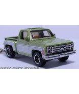 KEY CHAIN 74/75/1976 GREEN CHEVY STEPSIDE PICKUP KEYRING NEW - $33.95