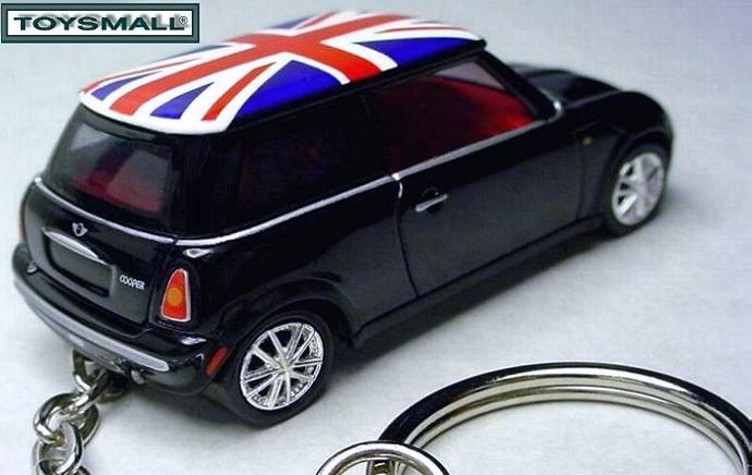 KEY CHAIN 2005~2007/2009/2010 BLACK UK FLAG MINI COOPER