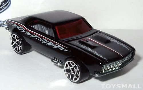 KEY CHAIN 1967/1968 BLACK CHEVY CAMARO 67/68 PORTE CLE NOIR