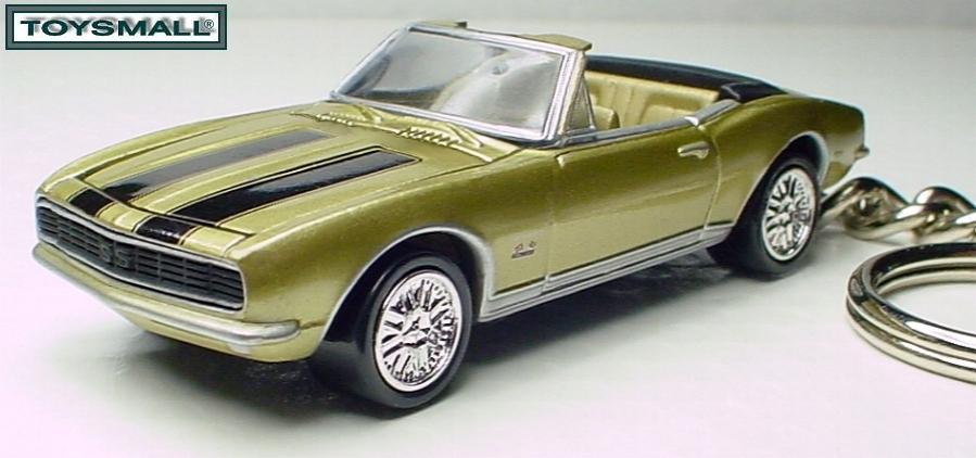 KEY CHAIN 1967~1968 GOLD CHEVY CAMARO 67/68 CONVERTIBLE