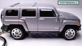 KEY CHAIN 06/2007/2008/2009/2010 SILVER GREY HUMMER H3 - $39.95