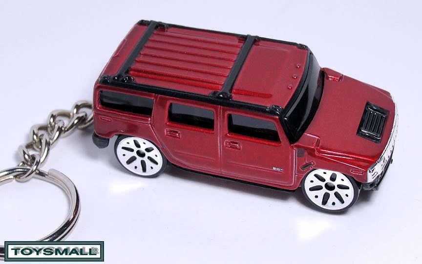 KEY CHAIN VICTORY RED BURGUNDY HUMMER H2 SUV 4X4 TRUCK