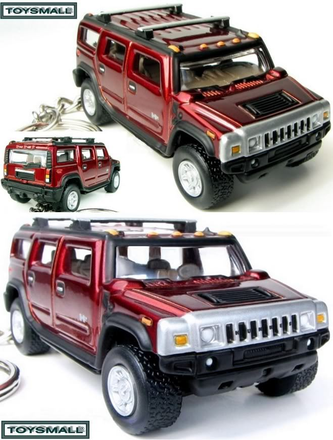 KEY CHAIN 02~03~2004~2005~2006~2007~2008 RED HUMMER H2