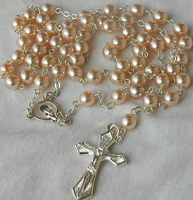 Pink pearls Rosary B