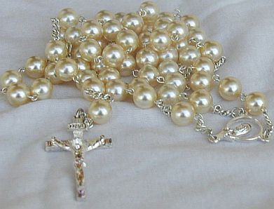 White pearls Rosary
