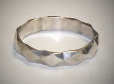 Vintage Sterling Silver Band Ring, size  7-1/2  or 9